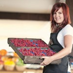Lepp Farm 0091 girl with flat of raspberries
